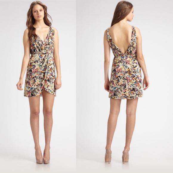 139a24b732b30 Alice + Olivia Dresses   Skirts - Alice + Olivia Ashby Wrap Silk Mini Dress